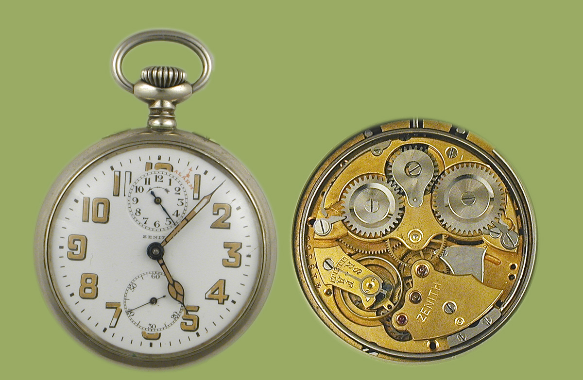 Zenith alarm pocket watch